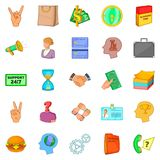 Equipage icons set, cartoon style. Equipage icons set. Cartoon set of 25 equipage vector icons for web isolated on white background Royalty Free Stock Photo