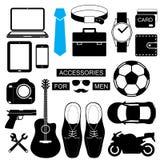 equipaggi gli elementi e le icone di infographics di stile messi per moderno Fotografia Stock