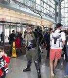 Equipaggi il costume verde d'uso della freccia al raggiro comico di NY Immagine Stock