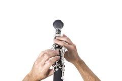 Equipaggi il gioco del clarinet Immagini Stock Libere da Diritti