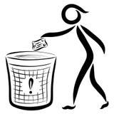 Equipaggi il lancio fuori dei rifiuti, logo con le linee nere royalty illustrazione gratis