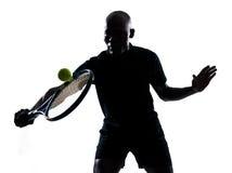 Equipaggi il rovescio del giocatore di tennis Immagine Stock Libera da Diritti