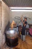 Equipaggi il sostegno del chicharrone de cerdo nel San Miguel de Allend Fotografia Stock