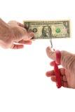 Equipaggi il taglio Stati Uniti una fattura del dollaro Immagine Stock Libera da Diritti