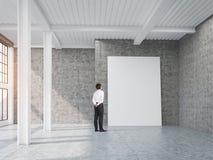 Equipaggi l'esame del manifesto verticale in sottotetto con le colonne illustrazione di stock