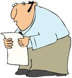 Equipaggi la lettura da una lista lunga Immagini Stock Libere da Diritti