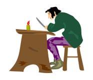 Equipaggi la lettura della lettera. Immagine Stock Libera da Diritti