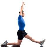 Equipaggi la posizione di forma fisica di allenamento Fotografie Stock Libere da Diritti