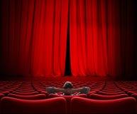 Equipaggi la seduta da solo nell'illustrazione del corridoio 3d del cinema di VIP Fotografia Stock