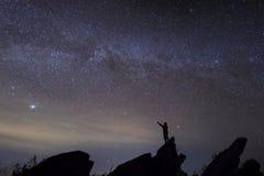 Equipaggi la stella di sorveglianza nel tempo più bello Fotografie Stock