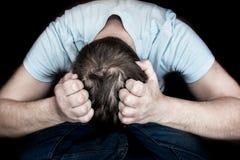 Disperazione e depressione Fotografia Stock