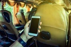 Equipaggi usando uno smartphone Fotografia Stock