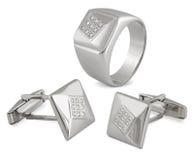 Equipaggia i monili impostati con i diamanti Fotografia Stock
