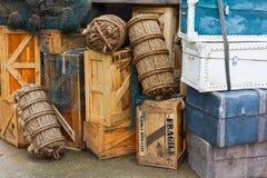 Equipaje de la vendimia Imágenes de archivo libres de regalías