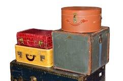Equipaje de la vendimia Fotografía de archivo libre de regalías