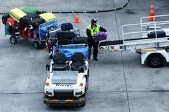 Equipaje del transporte aéreo Imagenes de archivo