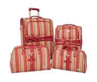 Equipaje fijado con los bolsos. Foto de archivo libre de regalías