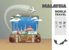 Equipaje global de Infographic del viaje y del viaje de la señal de Malasia libre illustration
