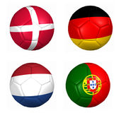 Equipament euro cup 2012 group A Royalty Free Stock Image