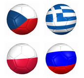 Equipament euro cup 2012 group B Stock Image