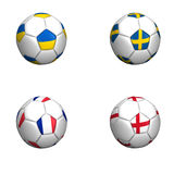 Equipament euro cup 2012 group D. On white background Royalty Free Stock Photography