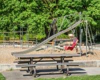 Equipamento à terra do jogo em um parque Foto de Stock