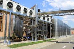 Equipamento Ñ€lant para a produção de vinho, de champanhe e de aguardente Fotos de Stock Royalty Free