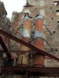 Equipamento abandonado em um moinho defunto em Minneapolis imagem de stock royalty free