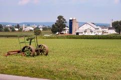 Equipamento agrícola de Amish no campo 5 foto de stock royalty free