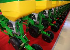 Equipamento agricultural para o fertilizante da terra Fotos de Stock Royalty Free