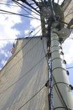 Equipamento alto & velas do navio Imagem de Stock