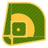 Equipamento americano da liga do esporte do atleta do jogo do projeto do vetor da batedura do campo de basebol dos desenhos anima ilustração stock