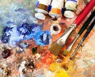 Equipamento artístico Fotos de Stock Royalty Free