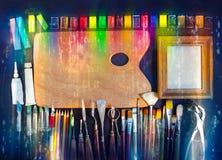 Equipamento artístico Foto de Stock