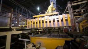 Equipamento automatizado da maquinaria Produtos de montagem do braço robótico, tijolos filme