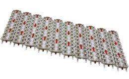 Equipamento bonde que protege   resultar de uma descarga de relâmpago isolada no branco Fotografia de Stock