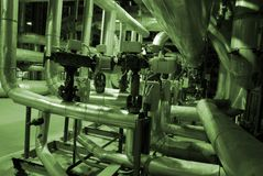 Equipamento, cabos e encanamento Fotografia de Stock