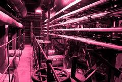 Equipamento, cabos e encanamento Imagem de Stock