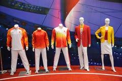 Equipamento chinês da equipe em Beijing 2008 olímpico foto de stock royalty free