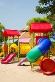 Equipamento colorido do campo de jogos das crianças Foto de Stock Royalty Free