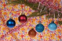 Equipamento da árvore de Natal, brinquedos do Natal Imagem de Stock Royalty Free