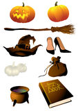 Equipamento da bruxa Fotografia de Stock