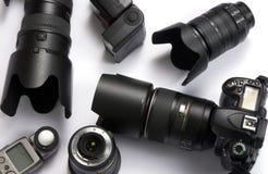 Equipamento da câmara digital fotografia de stock