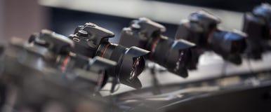 Equipamento da câmera de Dslr Fotografia de Stock Royalty Free