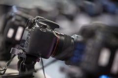 Equipamento da câmera de Dslr Imagens de Stock