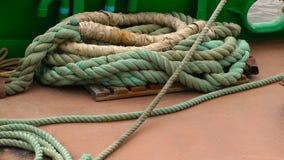 Equipamento da corda da casca da curva do navio do barco vídeos de arquivo