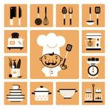 Equipamento da cozinha ilustração royalty free