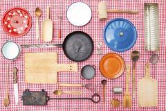 Equipamento da cozinha do vintage imagens de stock