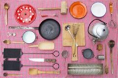 Equipamento da cozinha do vintage imagem de stock