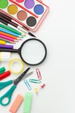 Equipamento da escola primária Imagens de Stock Royalty Free